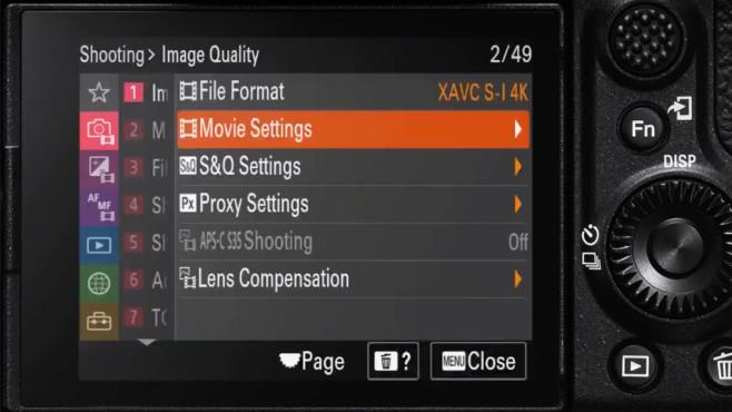 Sony Alpha 7S III: Menü©Sony