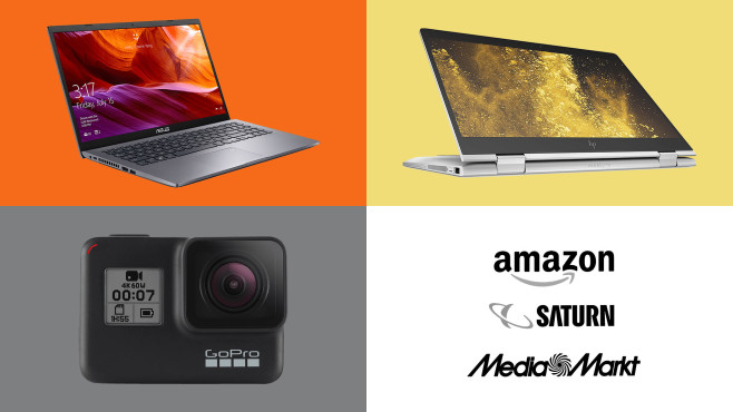 Amazon, Media Markt, Saturn: Die Top-Deals des Tages! © Saturn, Amazon, Media Markt, Asus, HP, GoPro