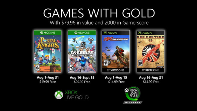 Games with Gold im August 2020©Microsoft