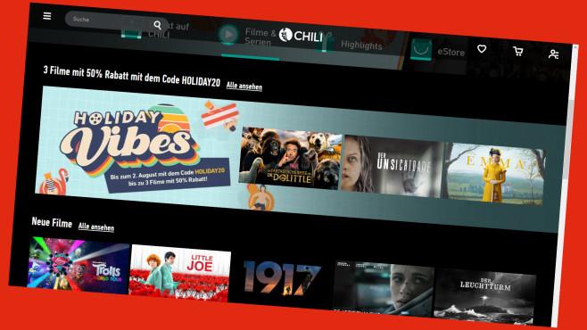 Bei Chili TV erhalten Sie 50 Prozent Rabatt©PR/Screenshot https://de.chili.com/