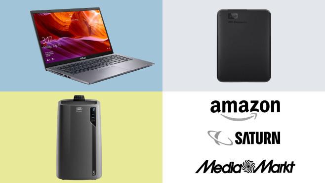 Amazon, Media Markt, Saturn: Die Top-Deals des Tages!©Saturn, Media Markt, Amazon, Western Digital, Asus, De'Longhi