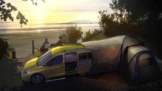 Die Glamping Lodge des neuen Caddys©Volkswagen Nutzfahrzeuge