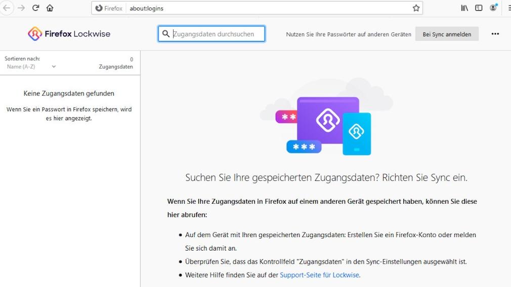 Passwort-Manager für Windows, Firefox, Chrome, Mac, Android & iOS Firefox Lockwise ist eine schlanke Lösung. Haben Sie sie noch nicht, ist zur Installation womöglich nur das Updaten des Browsers auf den neuesten Stand erforderlich.