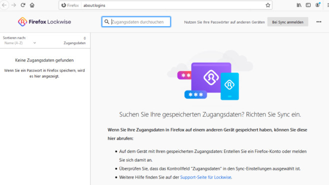 Passwort-Manager für Windows, Firefox, Chrome, Mac, Android & iOS Firefox Lockwise ist eine schlanke Lösung. Haben Sie sie noch nicht, ist zur Installation womöglich nur das Updaten des Browsers auf den neuesten Stand erforderlich.©COMPUTER BILD