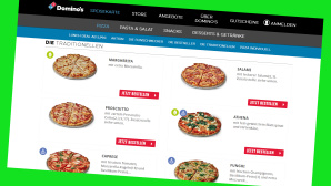 Domino's: Online-Rabatt beim Pizza-Lieferservice © Screenshot www.dominos.de