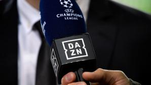Mikrofon mit DAZN-Logo©dpa-Bildfunk