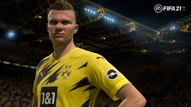 Szene aus FIFA 21 mit Erling Haaland©Electronic Arts