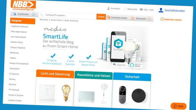 Smart Home: Spar-Deal bei Notebooksbilliger.de©Screenshot www.notebooksbilliger.de