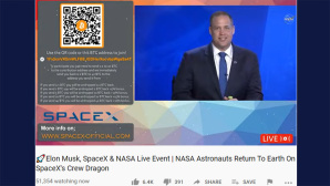 Gehackter YouTube-Account mit angeblichen Infos zum NASA-Live-Event © YouTube / Rod Breslau