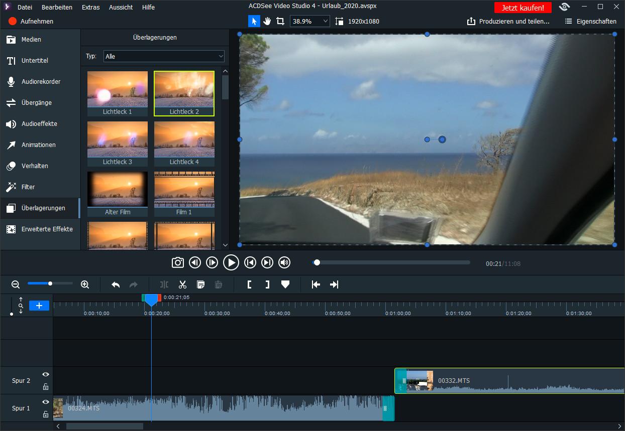 Screenshot 1 - ACDSee Video Studio 4