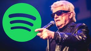 Heino vor einem Spotify-Logo©Gina Wetzler / Getty Images