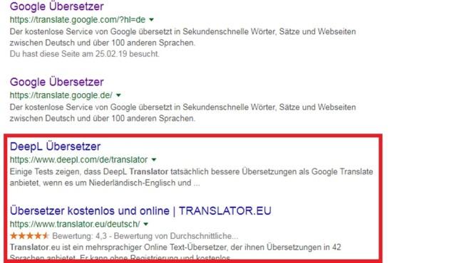 Außer Google mal Fremdseiten ausprobieren ©COMPUTER BILD