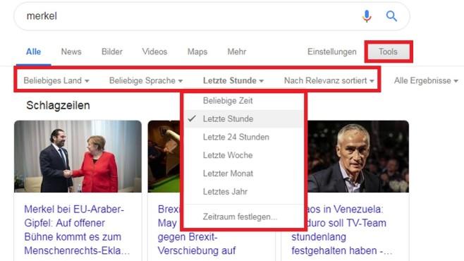 Suchergebnisse nach Kriterien ©COMPUTER BILD