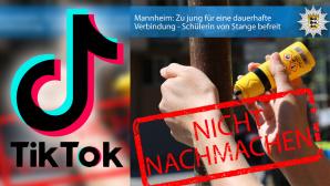 TikTok Super Glue Challenge©TikTok / Polizei Mannheim