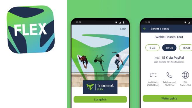 Freenet Flex funktioniert ausschließlich per App©Freenet