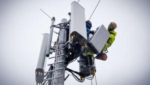 Aufbau eines 5G-Mastes©Deutsche Telekom