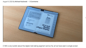 E Ink: Faltbarer eBook Reader © goodereader.com