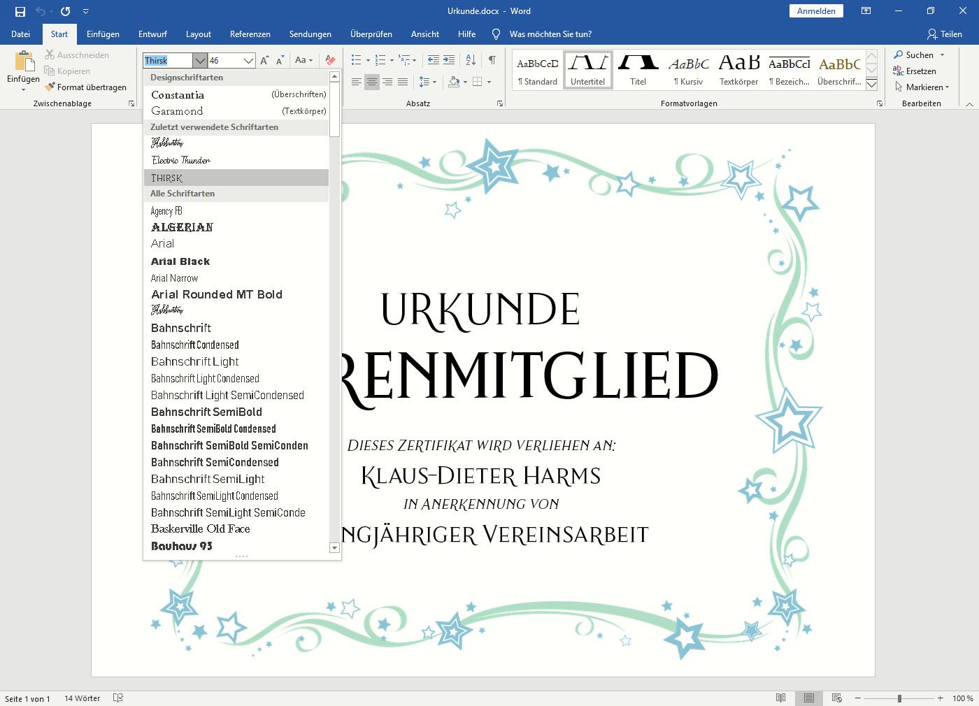 Screenshot 1 - Premium-Schriftarten von Creative Fabrica – Kostenlose Vollversion