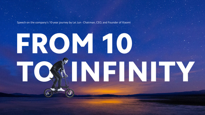 From 10 to infinity © Xiaomi