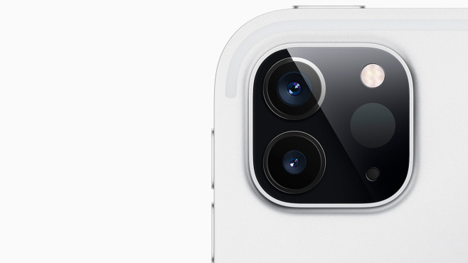 Die Kamera des iPad Pro 2020 in der Nahaufnahme©Apple