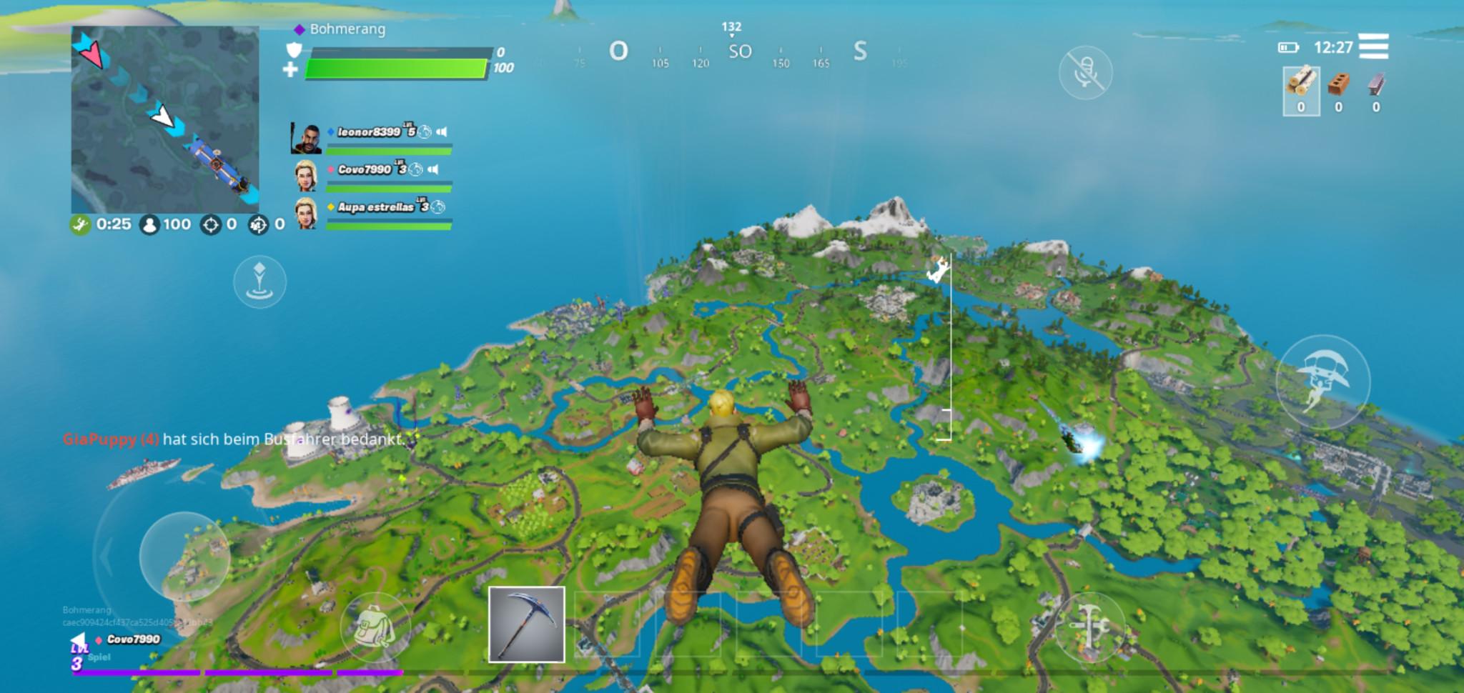 Screenshot 1 - Fortnite: Battle Royale (APK)