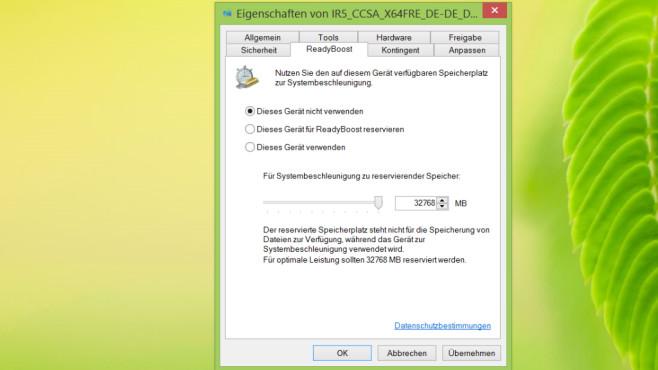 Windows 7/8/10: PC per USB-Stick beschleunigen – so geht es mit ReadyBoost ReadyBoost macht lahme PCs nicht wieselflink, aber womöglich ein bisschen agiler.©COMPUTER BILD