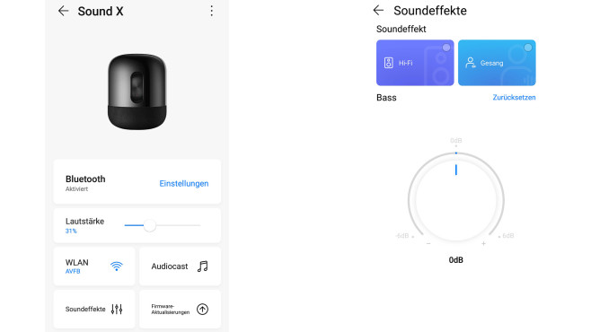 Die Huawei Smart Home App bindet den Sound X ins WLAN ein.©COMPUTER BILD