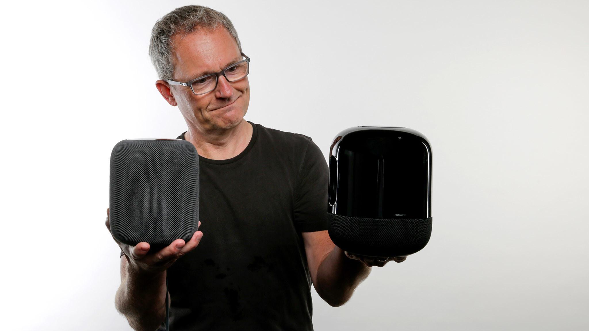 Huawei Sound X im Test: Im Vergleich zum Apple HomePod zieht der  Huawei den Kürzeren.©COMPUTER BILD