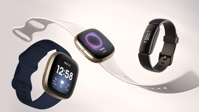Fitbit Versa 3, Sense und Inspire 2©Fitbit, Montage: COMPUTER BILD