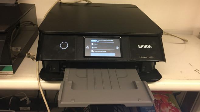 Epson Expression Photo XP-8600: Touchscreen©COMPUTER BILD