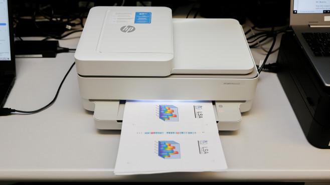 Ausdruck im Ausgabefach des HP Envy Pro 6420©COMPUTER BILD
