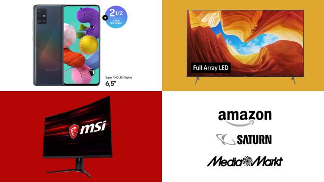 Amazon, Media Markt, Saturn: Die Top-Deals des Tages!©Amazon, Media Markt, Saturn, Samsung, Sony, MSI