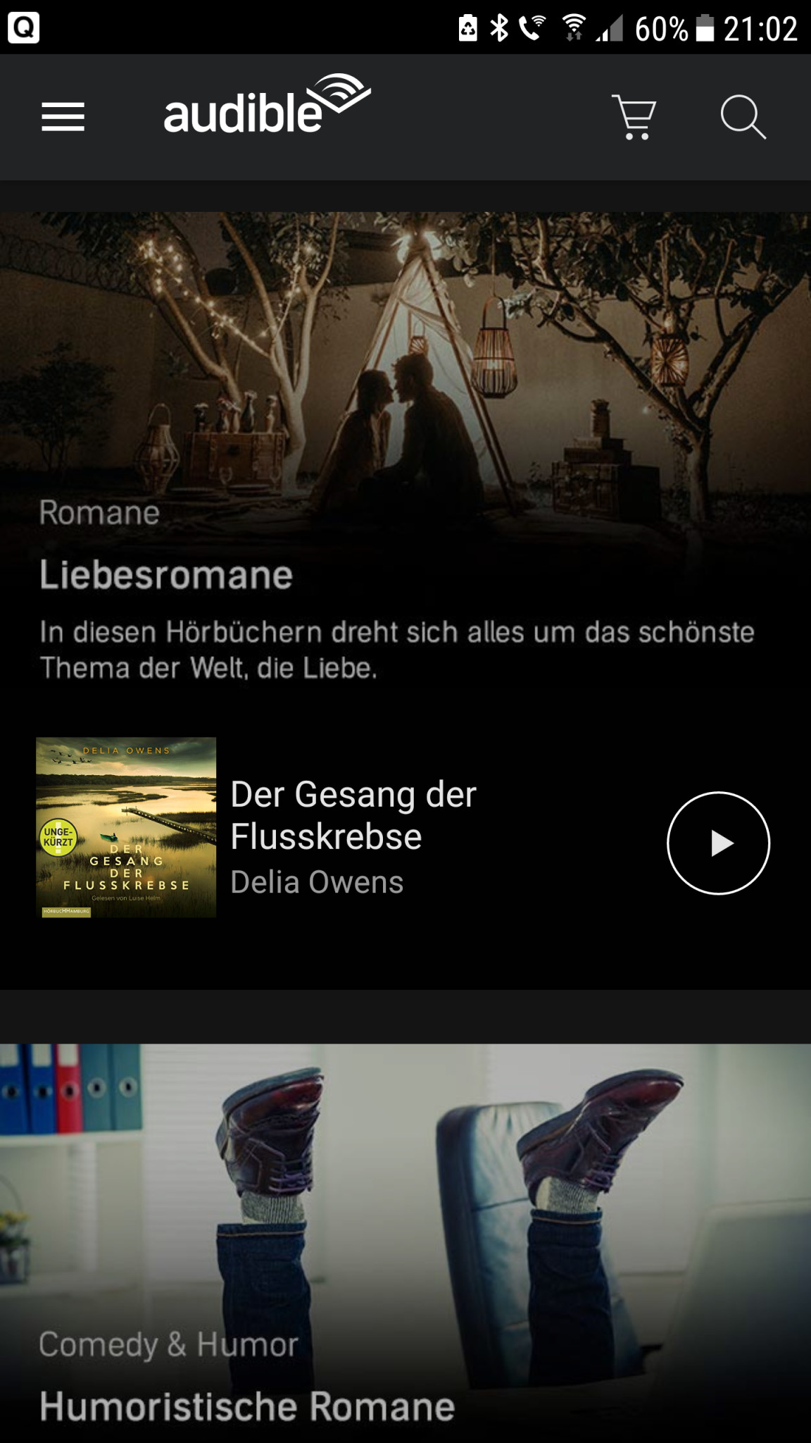 Screenshot 1 - Audible Hörbücher & Podcasts (Android-App)