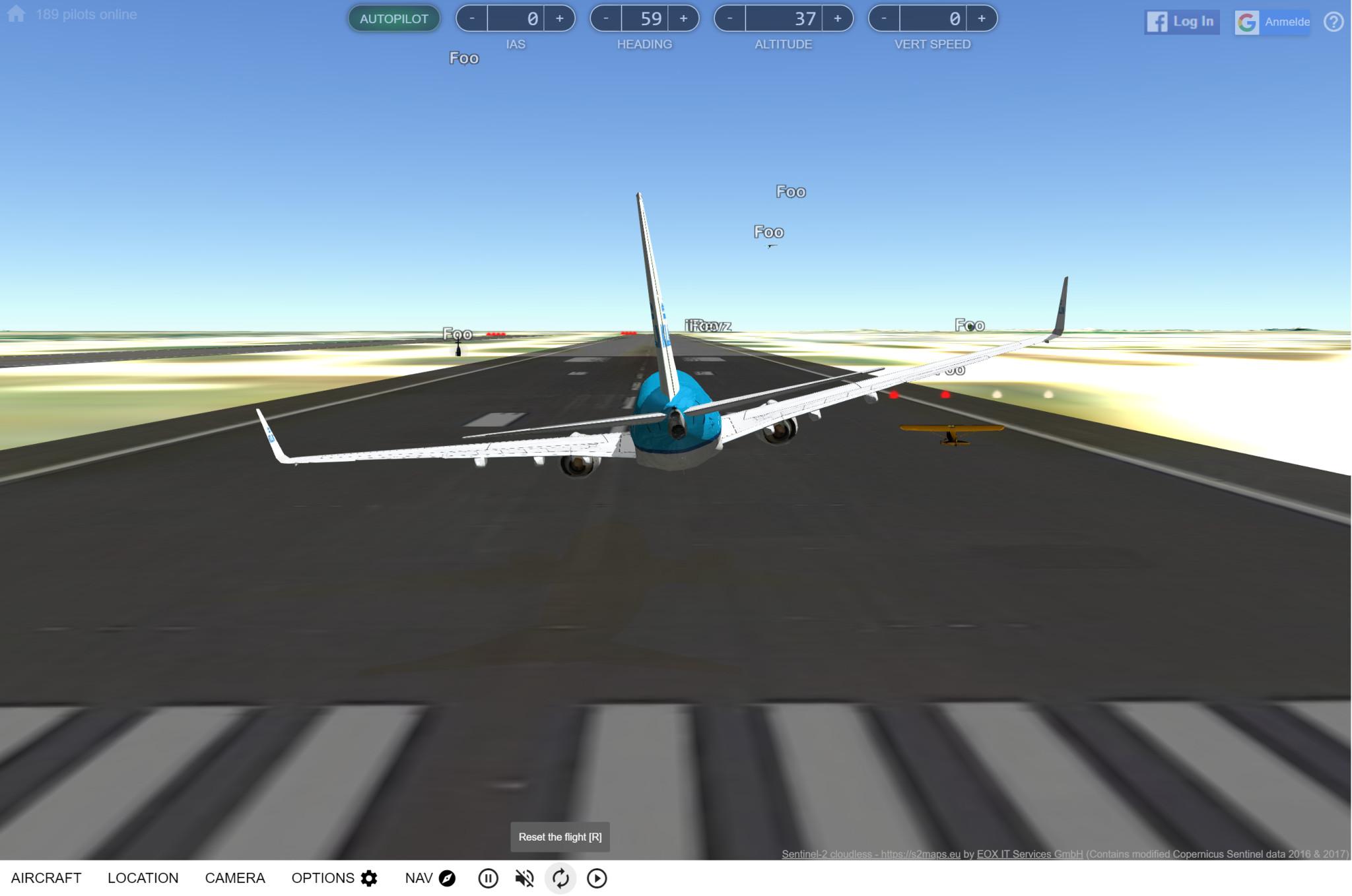 Screenshot 1 - GeoFS Online-Flugsimulator