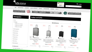 Reisegepäck online zu reduzierten Preisen©Screenshot www.koffer-direkt.de