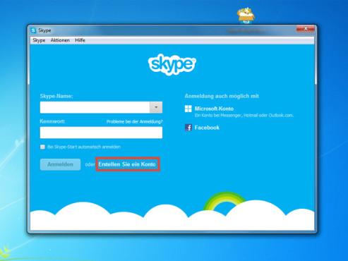 Skype-Konto erstellen ©COMPUTER BILD