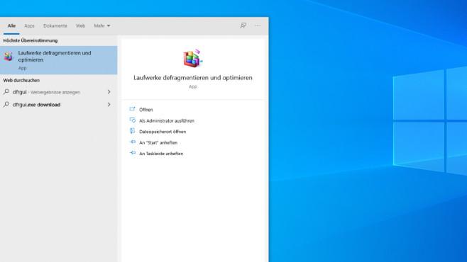 Windows-Defragmentierer starten©COMPUTER BILD