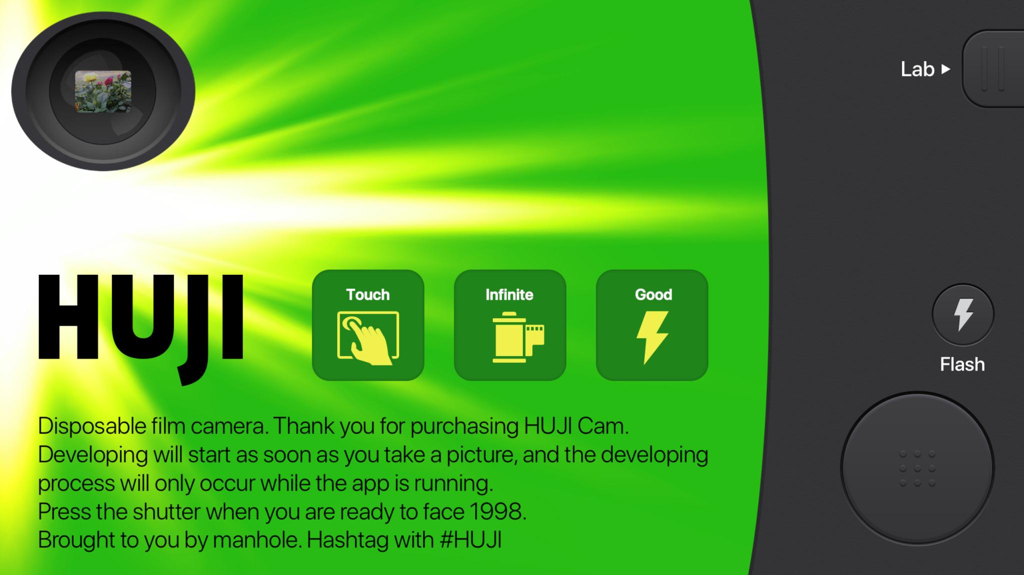 Screenshot 1 - Huji Cam (Android-App)