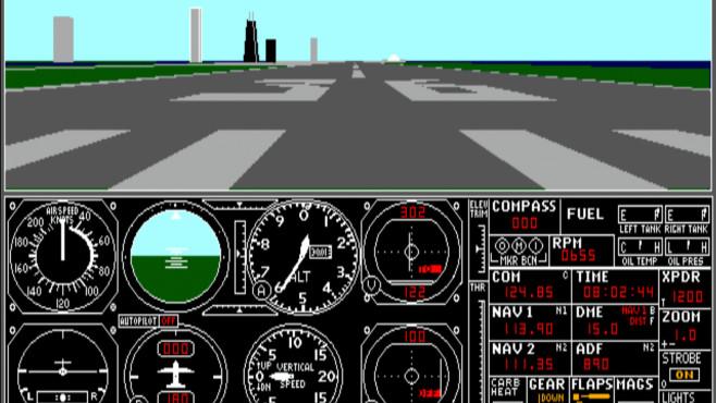 Flugsimulator von 1988©Microsoft, s-macke.github.io