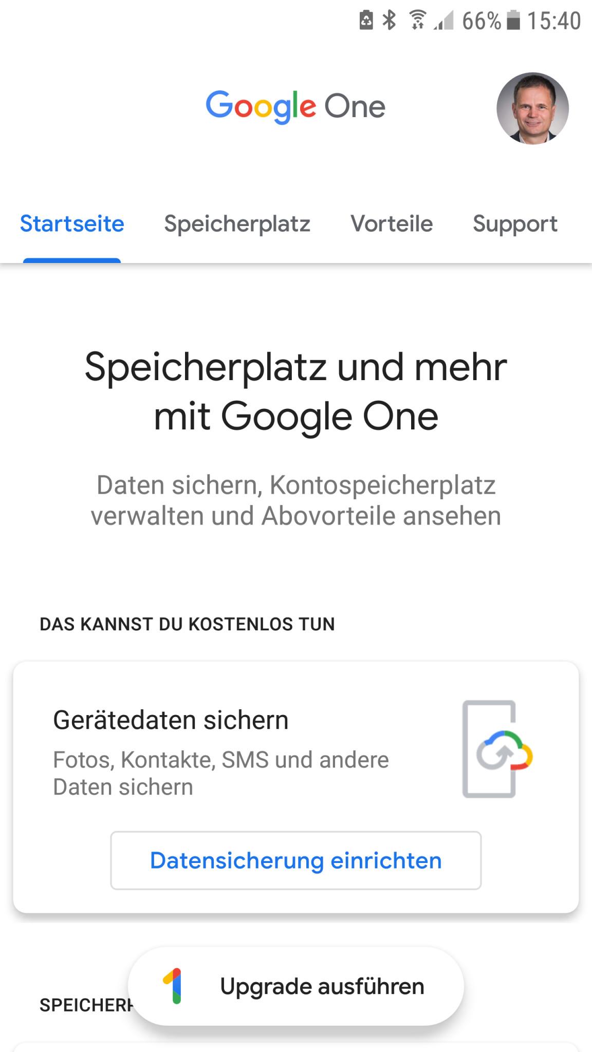 Screenshot 1 - Google One (Android-App)
