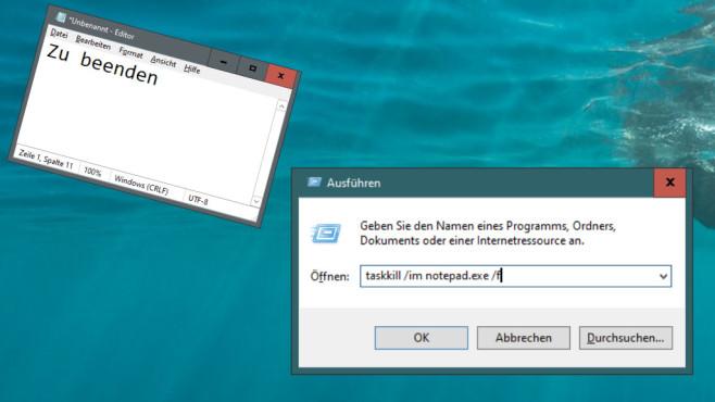 Windows 7/8/10: Was ist ein Parameter am PC? Die besten Tipps für CMD & Co. Mit taskkill /im <EXE-Prozess-Name> schießen Sie Programme ab.©COMPUTER BILD