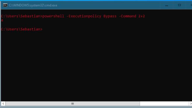 Windows 7/8/10: Was ist ein Parameter am PC? Die besten Tipps für CMD & Co. Die cmd.exe rechnet eigentlich nicht, durch PowerShell-Mithilfe gelingt ihr das.©COMPUTER BILD
