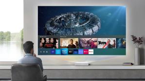 The Premiere von Samsung soll bis zu knapp drei Meter breite Videobilder projizieren.©Samsung