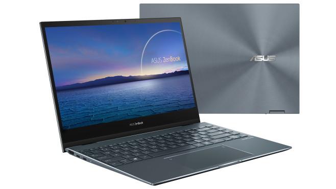 Das ZenBook Flip 13 (UX363) vor weißem Hintergrund.©Asus