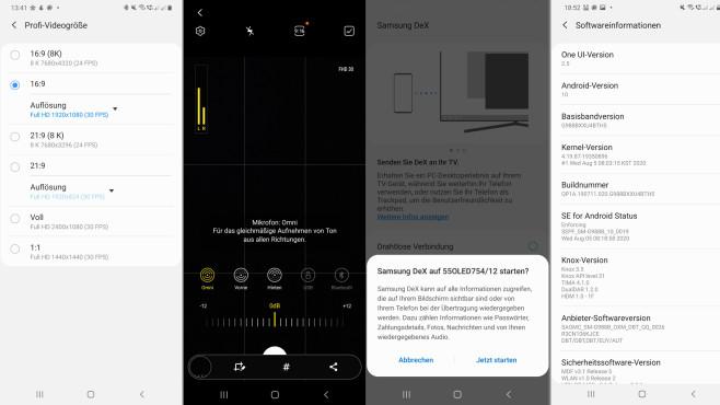 Galaxy S20 Update©Screenshot: COMPUTER BILD
