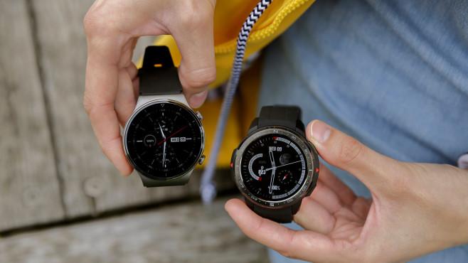 Huawei Watch GT 2 Pro und Honor Watch GS Pro©COMPUTER BILD