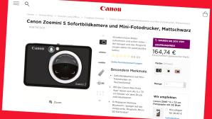 Canon Winter Sale: Zoemini S online 20 Prozent g�nstiger©Screenshot store.canon.de/PR