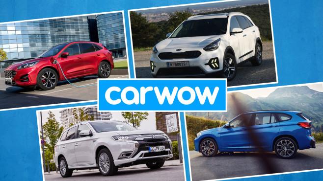 PHEV-SUVs©Carwow, Ford, BMW, Mitsubishi, Kia