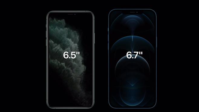 Größenvergleich: iPhone 12 Pro vs. 11 Pro©Apple
