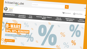 B-Ware jetzt g�nstiger bei Hitseller©Screenshot www.hitseller.de